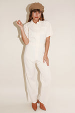 Sugarhigh Lovestoned Short Sleeve Coveralls Cream Twill