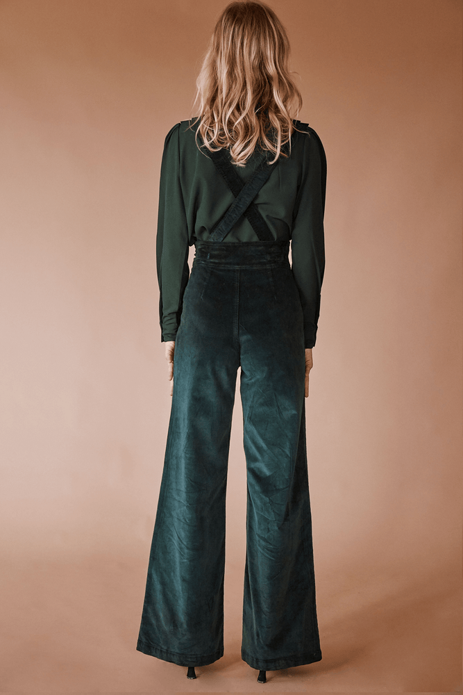 Load image into Gallery viewer, Sugarhigh Lovestoned Woody Suspender Pants Hunter Green