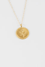 Wolf Circus Rose Coin Necklace Gold