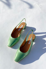 Galo Emerald Vegan Slingbacks