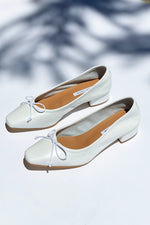 Mina Summer White Ballet Pumps
