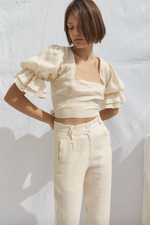 Isabel Linen Pants Bone