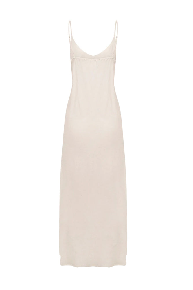 Joelle Maxi Slip Dress Bone