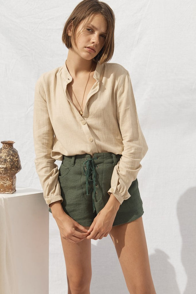 Lou Linen Shirt Almond