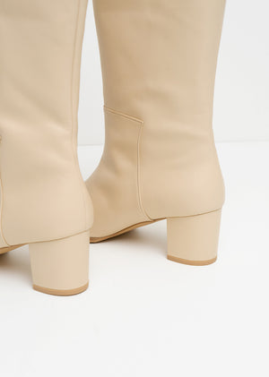 Amomento New Long Boots Beige