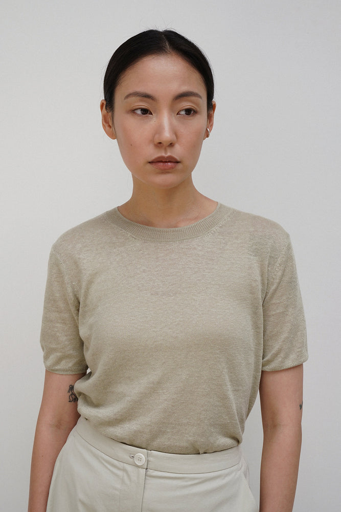 Load image into Gallery viewer, Amomento Organic Linen Half Pullover Shirt