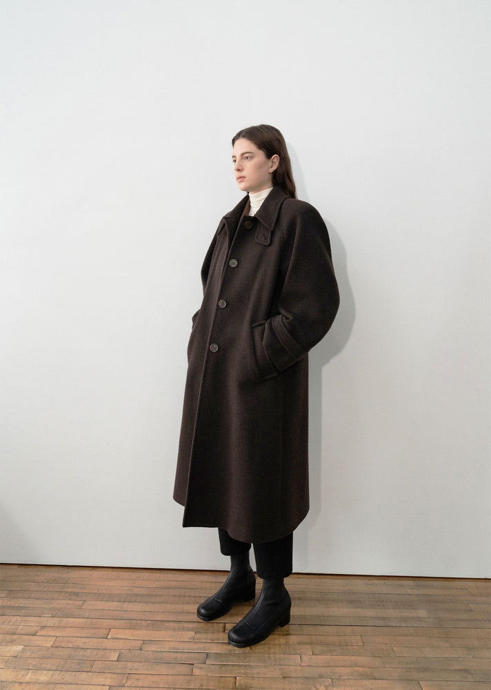 Amomento Raglan Coat Chocolate Brown