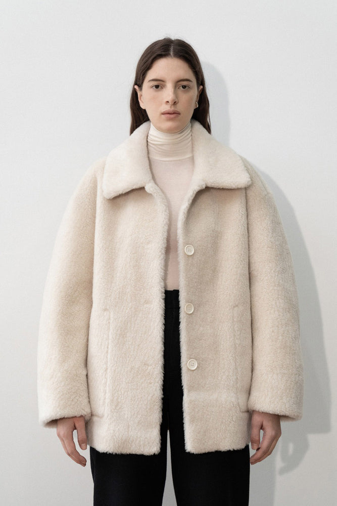 Amomento Reversible Shearling Coat