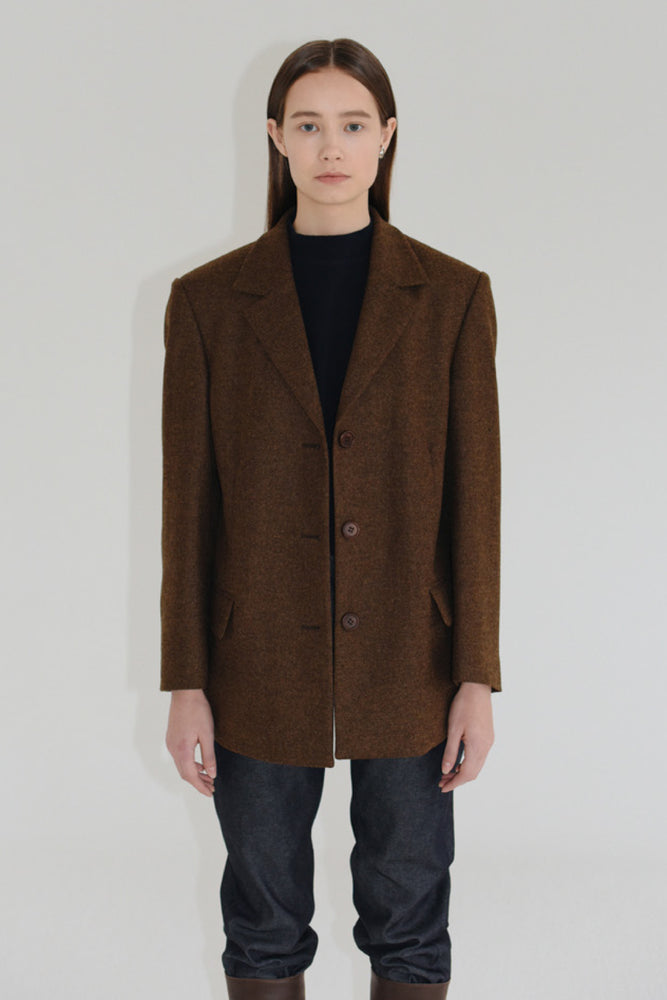 Amomento Heritage Merino Wool Three Button Jacket