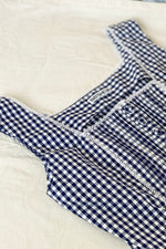 Batsheva Navy Gingham Amy Sleeveless Top