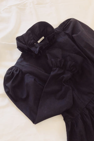 Load image into Gallery viewer, Batsheva Mini Prairie Dress Black