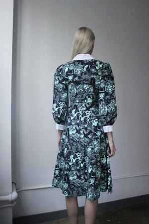 Batsheva Face Print Wrap Dress