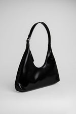 Amber Bag Black Semi Patent Leather
