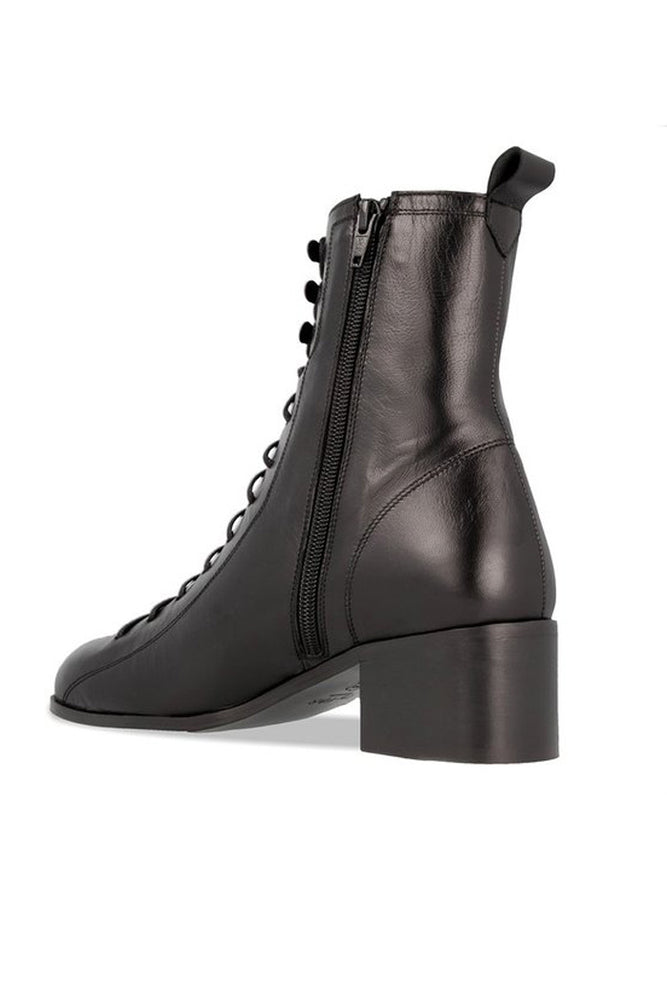By Far Bota Army Boots Black Leather