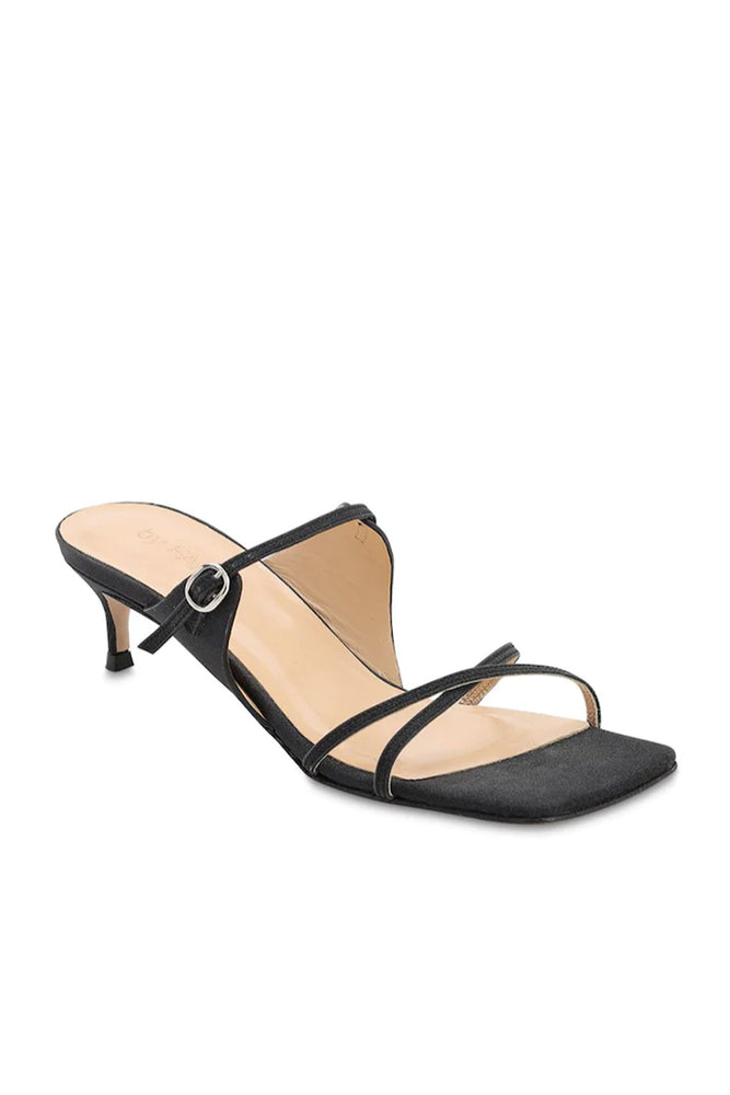 Candy Sandals Black Semi Patent Leather
