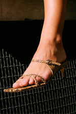 Candy Sandals Snake Print Leather