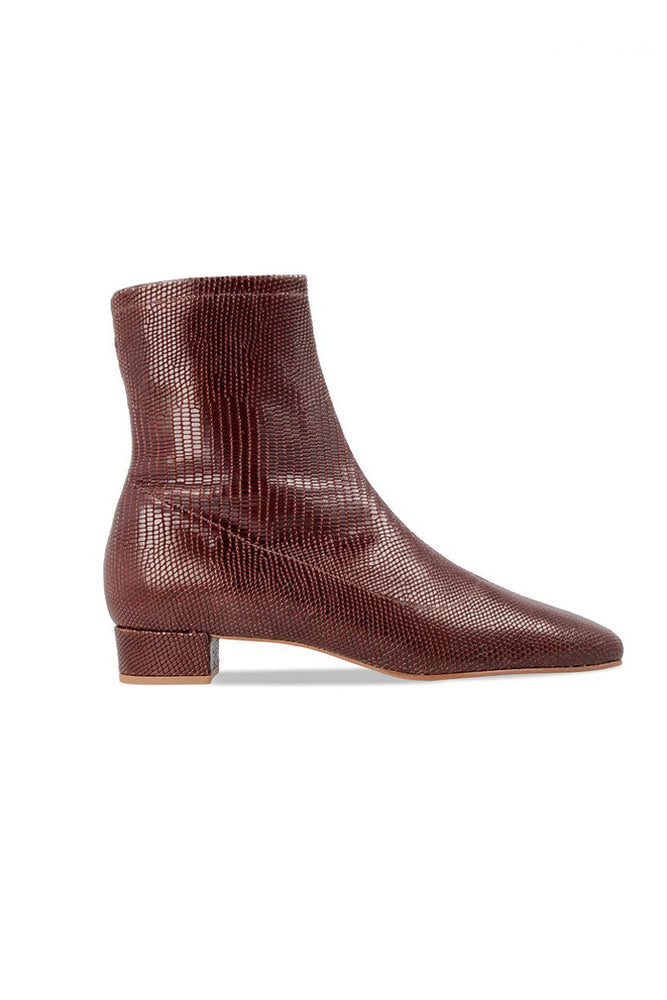 By Far Este Boots Brown Embossed Lizard