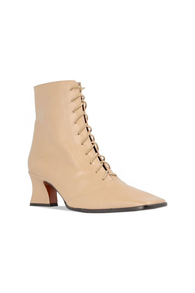 By Far Kate Boots Cream Leather