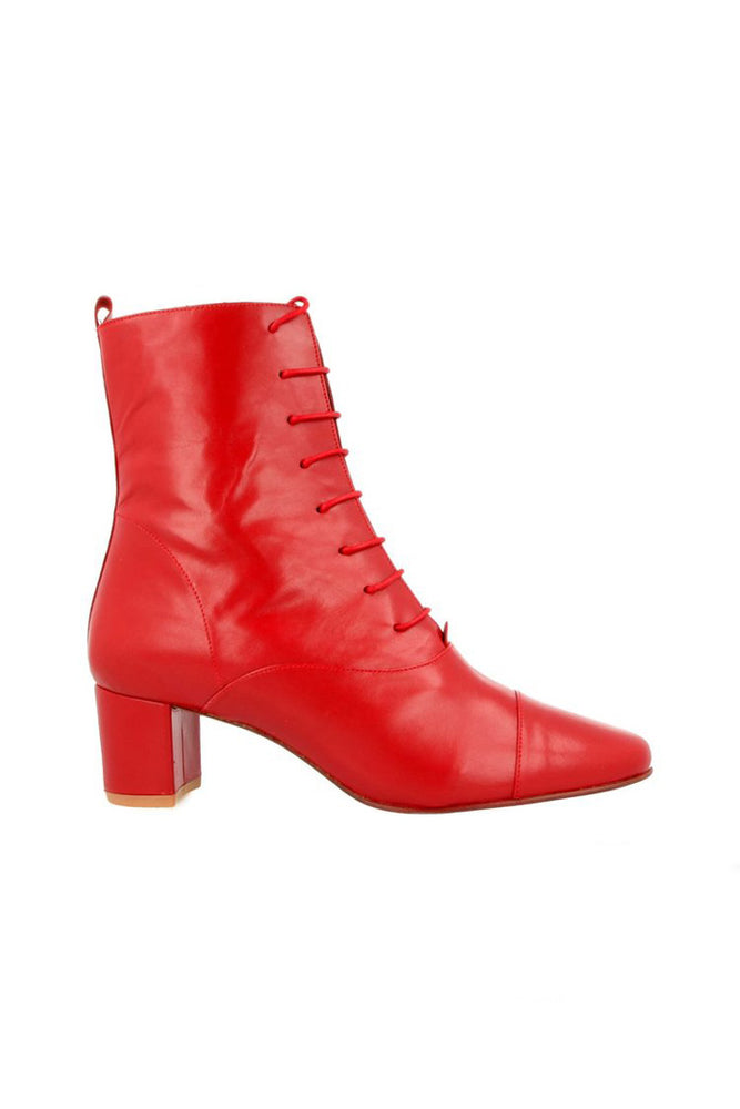 By Far Lada Boots Red Leather