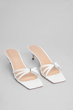 Libra Sandals White Patent Leather