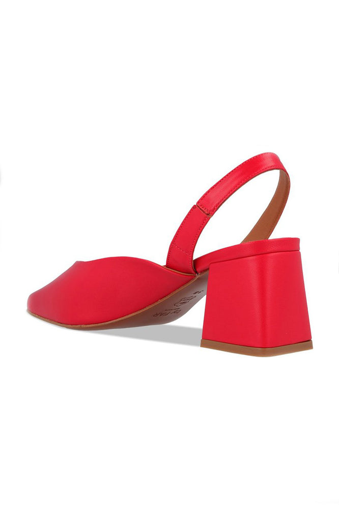 By Far Lisa Slingbacks Red