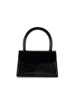 BY FAR Mini Bag Black Semi Patent Leather