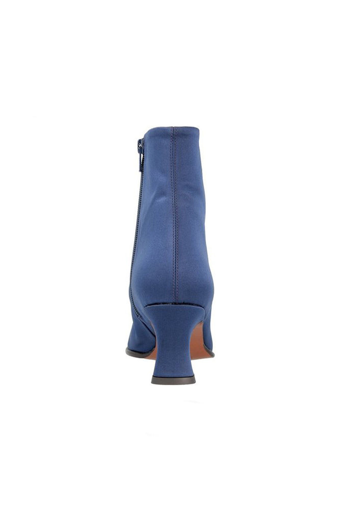 By Far Naomi Boots Navy Silk