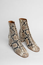 BY FAR Becca Boots Snake Print Leather