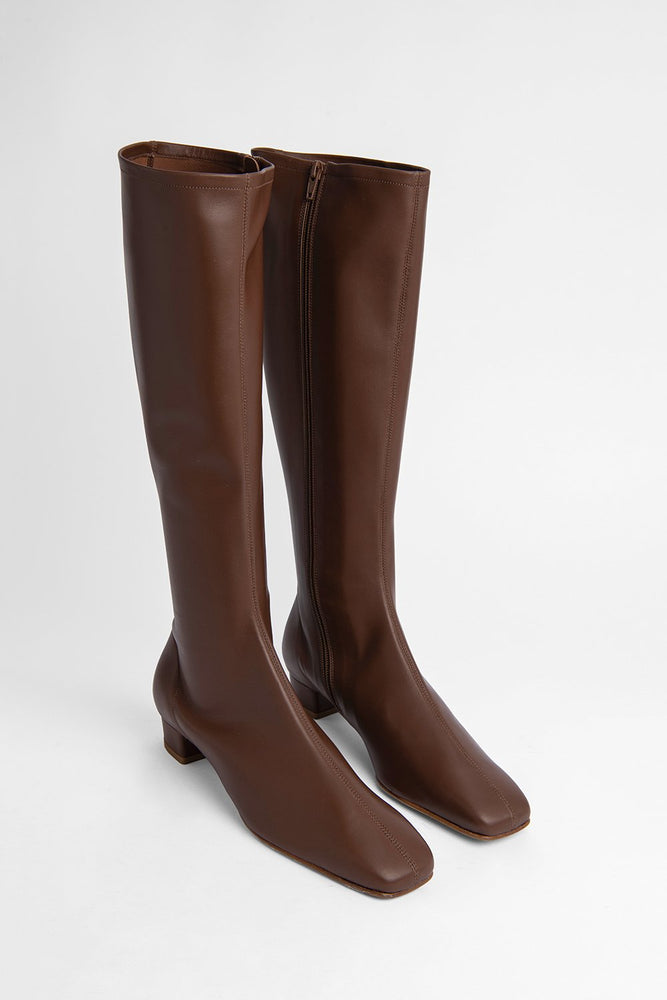 BY FAR Edie Boots Brown Leather