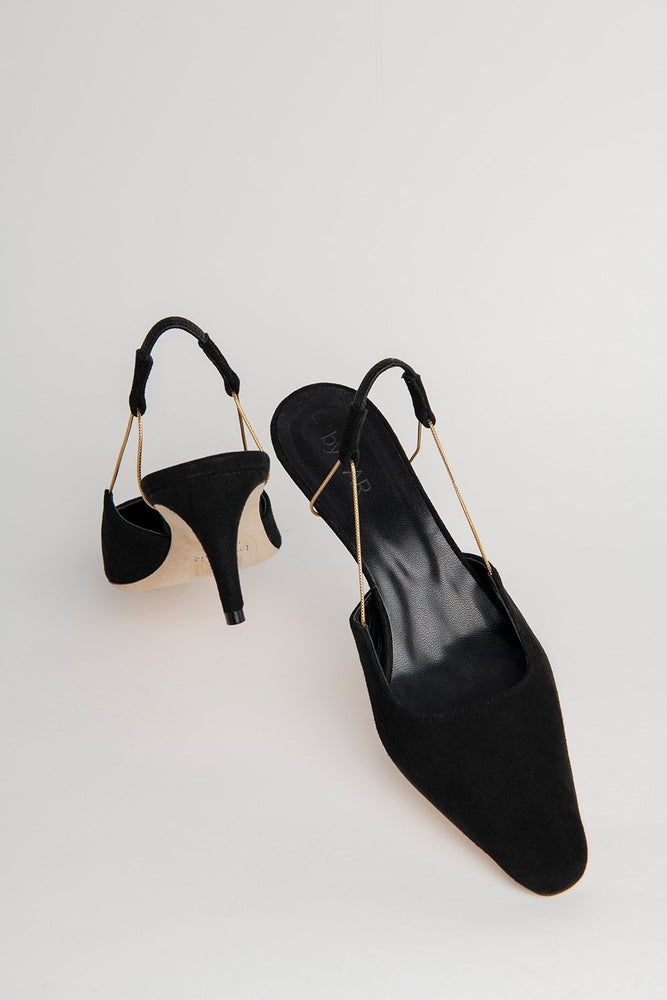 BY FAR Gabriella Heels Black Suede