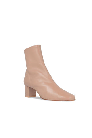 BY FAR Sofia Boots Nude Leather