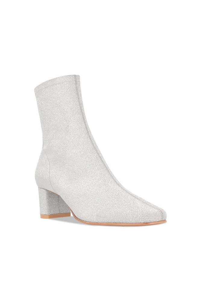 BY FAR Sofia Boot Silver Glitter Leather
