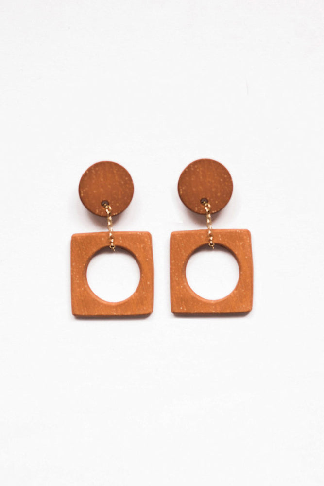 Eny Lee Parker Luci Earrings Terracotta