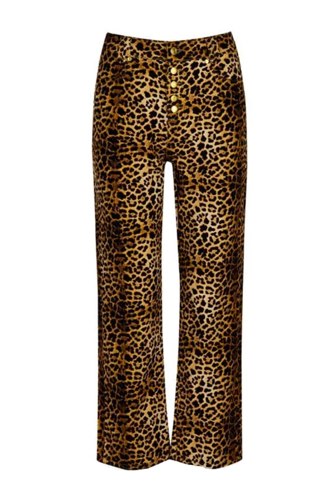 House of Sunny Jungle Jessie Leopard Print Pants