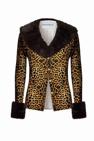 Load image into Gallery viewer, House of Sunny Jungle Peggy Cardigan Leopard