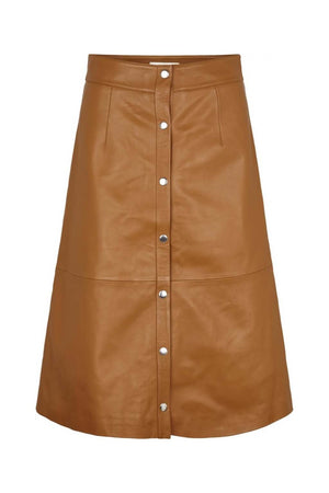 Just Female Alfa Leather Skirt