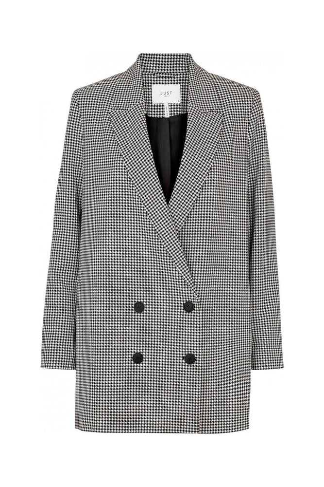 Just Female Amelie Double Breasted Blazer Bright Check
