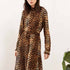 Just Female Elinor Leopard Print Midi Dress