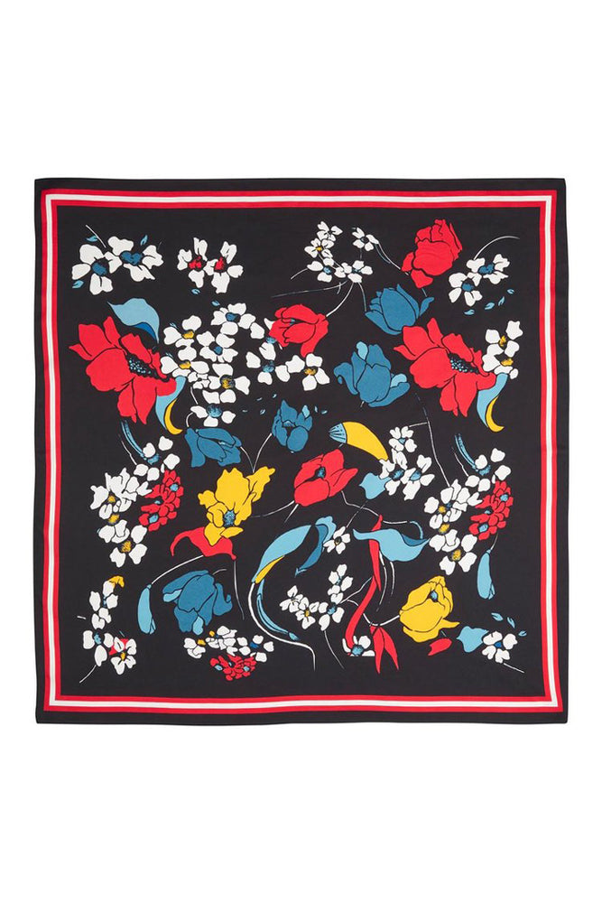 Just Female Flower Party Silk Scarf
