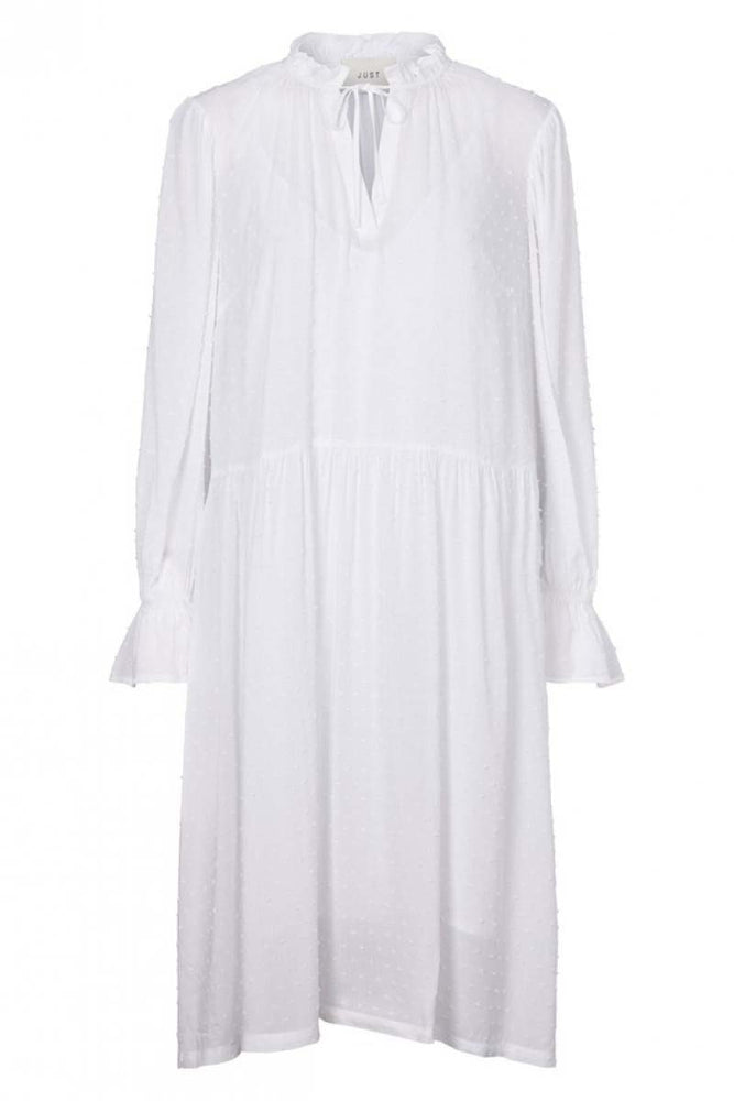 Just Female Ragna Midi Dress White
