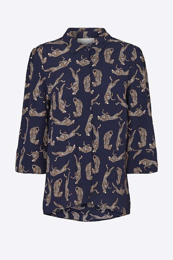 Just Female Wells Shirt Leopard