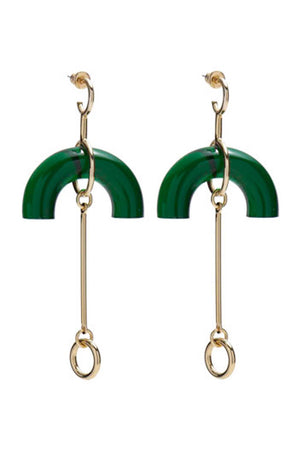 Lady Grey Lucent Earrings Emerald