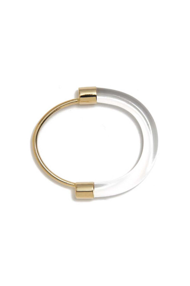 Lady Grey Fraction Lucite Bracelet Clear