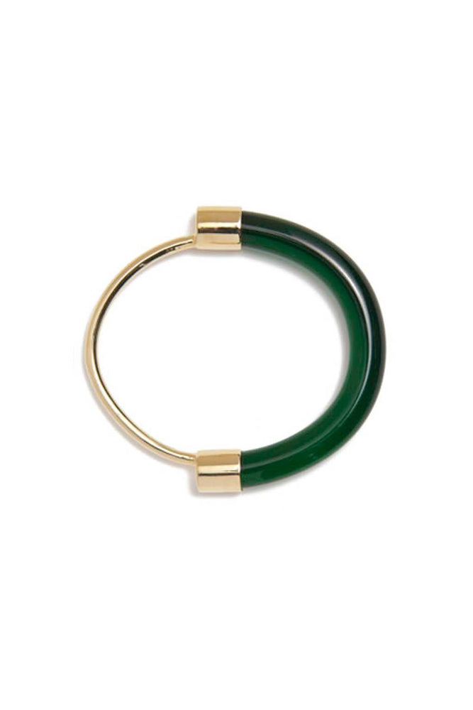 Lady Grey Fraction Lucite Bracelet Emerald Jewelry