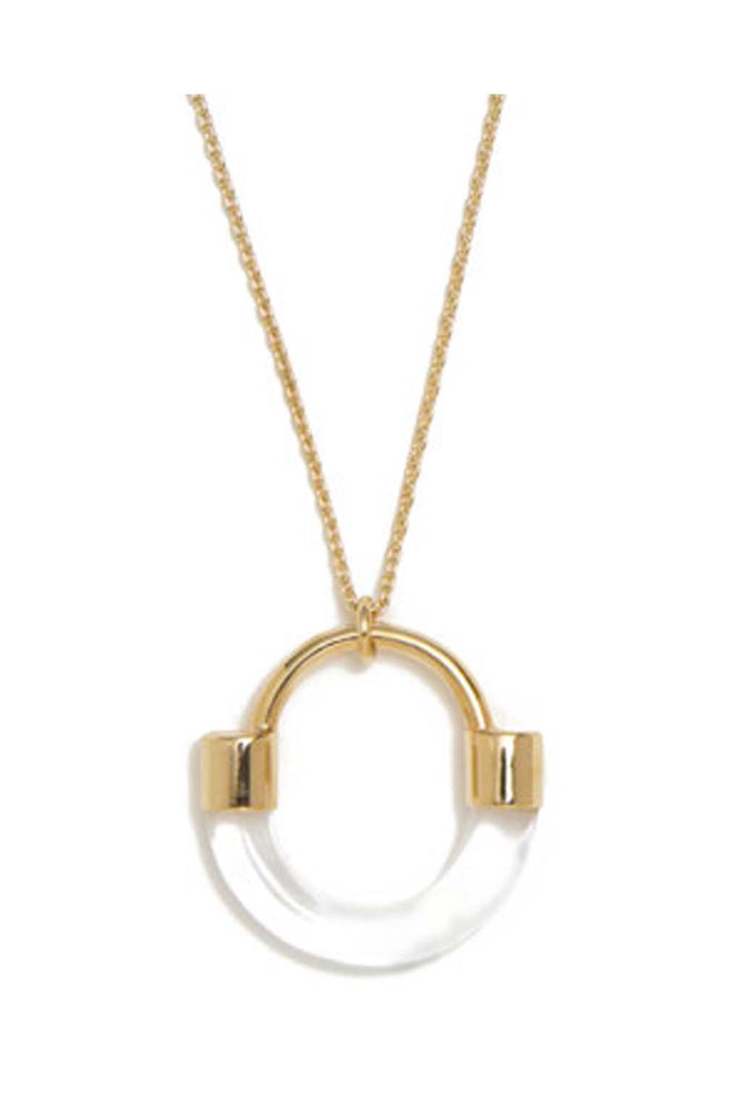 Lady Grey Fraction Lucite Necklace Clear