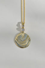 Leigh Miller Basalt Moonstone & Chalcedony Medallion Necklace