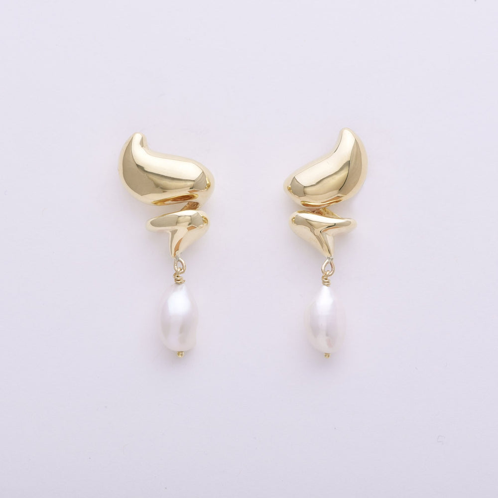 Leigh Miller Dollop Stud Earrings with Pearl