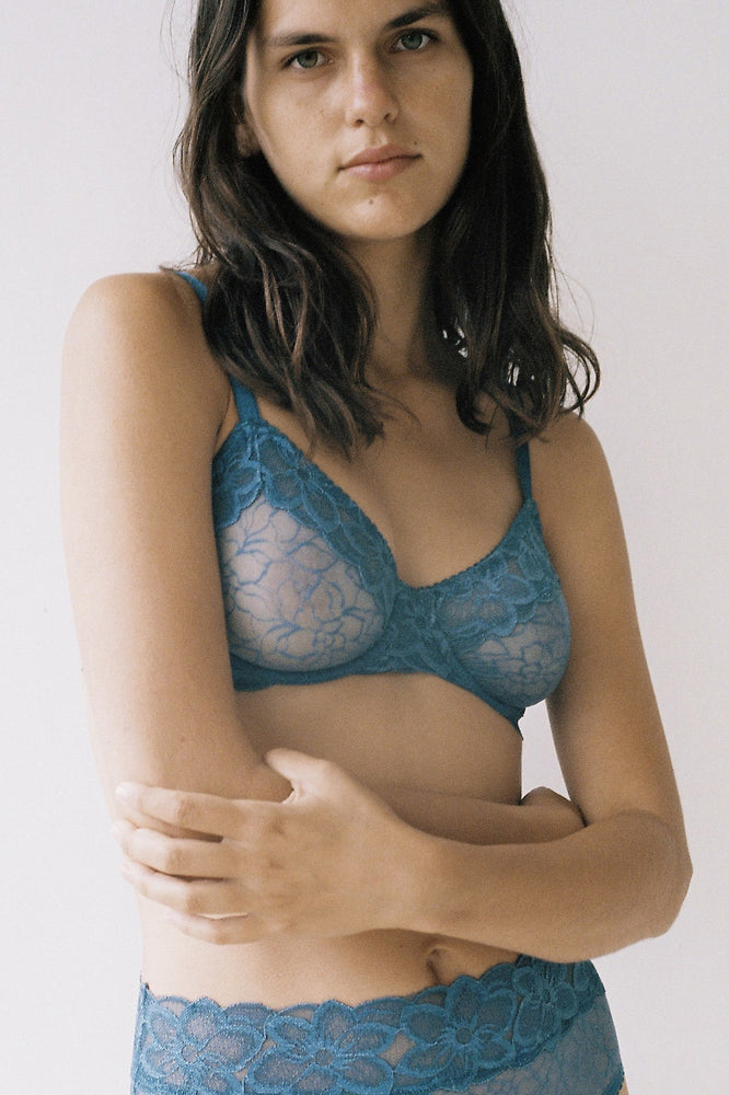 Lonely Lingerie Lilian Underwire Bra Teal
