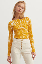 Flor Tie Die Shirt Yellow