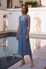 Paloma Wool Alberti Linen Dress Soft Blue